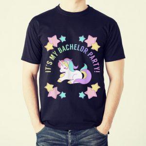 Funny It's My bachelor Party Unicorn shirt 1