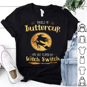 Official Witch Buckle Up Buttercup Mom Halloween Witches shirt