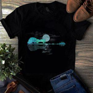 Original Guitar Lake Shadow Nature And City Moon Light shirt