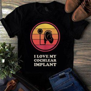 Original Vintage Hearing Loss Awareness I Love Cochlear Implant shirt