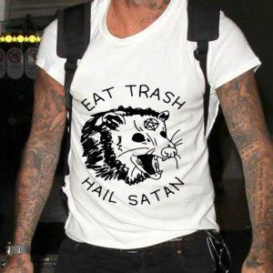 Possum Eat Trash Hail Satan sweater