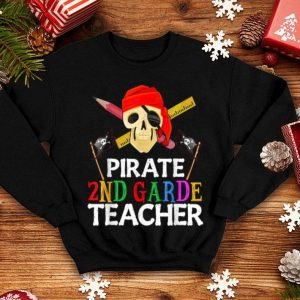 Premium Pirate 2nd Grade Teacher Halloween Skull Adult Gift shirt