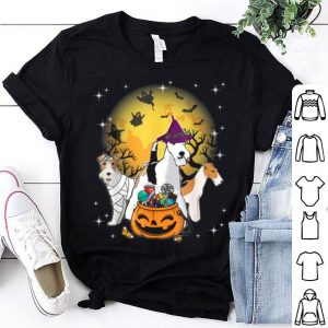 Premium Wire Fox Terrier Mummy Witch Dog Moon Ghost Halloween shirt