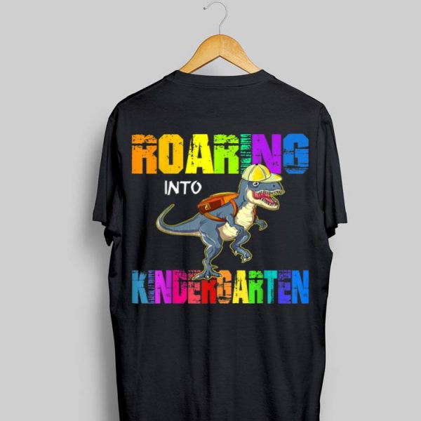 Roaring Kindergarten Dinosaur T Rex Back To School Boy shirt