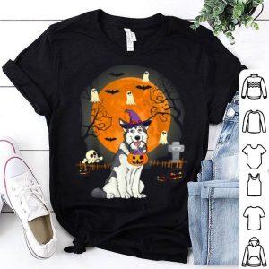 Top Alaskan Malamute Dog Witch Halloween Halloween Gifts shirt