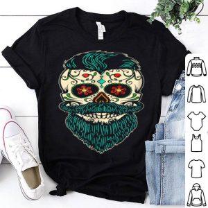 Top Day Of The Dead Bearded Sugar Skull Halloween Costume shirt