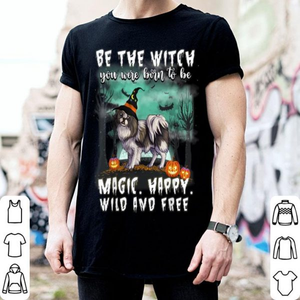 Awesome Be The Witch Japanese Chin Dog Halloween shirt