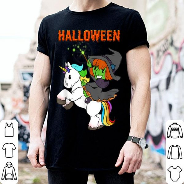 Awesome Cute Unicorn Witch Halloween Graphic Girls Costume Gift shirt