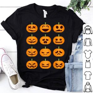 Awesome Halloween Costume Pumpkin Emoticons Smile Face shirt