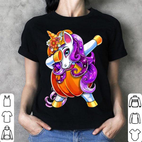 Awesome Halloween Dabbing Unicorn Pumpkin Jack-O-Lantern Girls Gift shirt