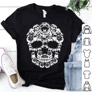 Awesome Pug Dog Halloween Skull Costumes Gift shirt