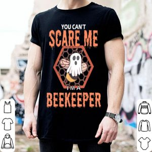 Awesome You can't scare me I'm a beekeeper Halloween Boo Bee shirt