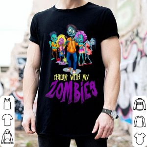 Beautiful Chillin With My Zombies Halloween Boys Kids Funny shirt