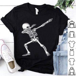 Dabbing Skeleton Funny Halloween Dab Kids Adult shirt