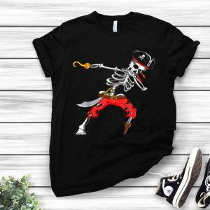 Dabbing Skeleton Pirate Halloween Kids Jolly Roger shirt