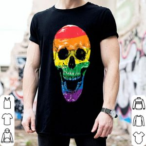 Funny Lgbt Flag Skull Halloween Gay Pride Month shirt