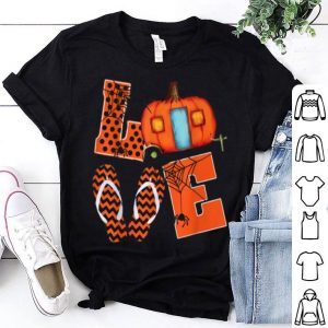 Funny Love Camping Pumpkin Spider Flip Flops Halloween Gift shirt
