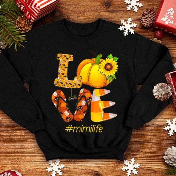 Hot Love mimi life- Halloween sunflower Gift shirt