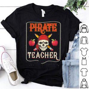 Hot Pirate Teacher Funny Halloween Skull Adult shirt
