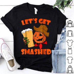 Nice Let's Get Smashed - Halloween Pumpkin Beer Men shirt