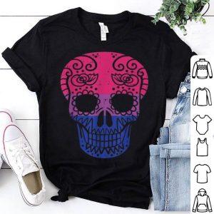 Nice Sugar Skull LGBT Bisexual Pride Calavera Gay Halloween Gift shirt