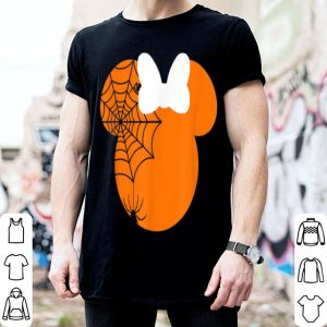Official Cute mouse halloween with bow and spider pumpkin shirt