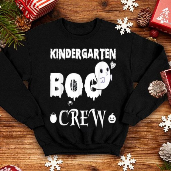 Official Kindergarten Boo Crew Halloween Gift For Teachers And Kids shirt