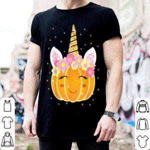 Original Flower Cute Pumpkin Unicorn Happy Halloween shirt