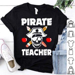 Pirate Teacher Funny Halloween Skull Adult Gift shirt