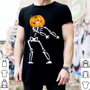 Premium Cool Skeleton Pumpkin Floss Dancing Halloween Funny shirt