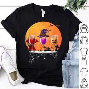 Premium Three wine glasses HalloweenPumpkin Halloween gifts shirt