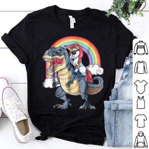 Premium Unicorn Riding T Rex Dinosaur Halloween Boys Kids Gift shirt