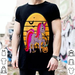 Premium Unicorn Skeleton With Candy Pumpkin Halloween Gifts shirt