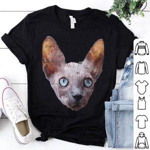 Realistic Sphynx Cat Face Costume Cute Easy Halloween shirt