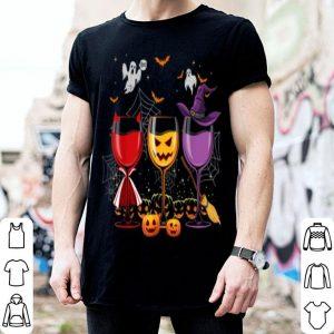 Three Glasses Of Wines Funny Halloween Wine Lover shirt