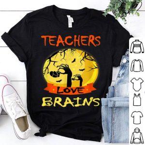Top Teachers love brains Funny Halloween School Pre-k Gift shirt