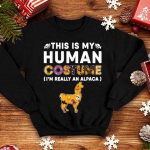 Top This Is My Human Alpaca Halloween Costume shirt