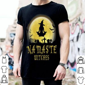 Yoga And Namaste Witches Funny Halloween Great cute shirt