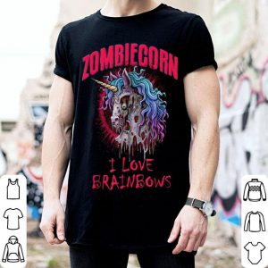 Zombie Unicorn I Love Brainbows Halloween Gothic Goth Punk shirt
