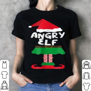 Awesome Angry Elf Matching Family Group Christmas Xmas shirt