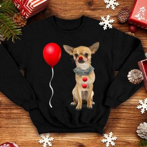 Awesome Chihuahua Scary Clown Funny Halloween Costume Gift shirt