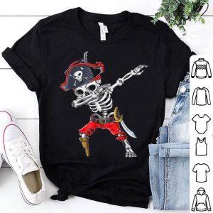 Awesome Dabbing Skeleton Pirate Halloween Kids Jolly Roger shirt