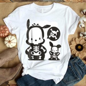 Awesome Pochacco Skeleton Halloween shirt