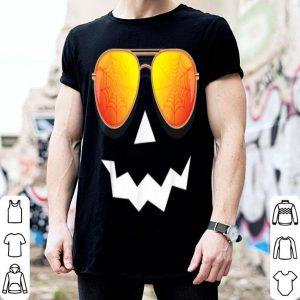 Awesome Pumpkin Halloween Jack O Lantern Sunglasses Spider Web shirt
