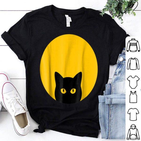 Awesome Solar Eclipse Black Cat Yellow Eye Full Moon Halloween shirt