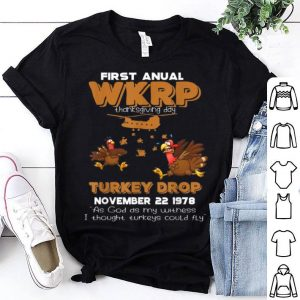 Awesome Wkrp Turkey Drop Thanksgiving Gifts shirt