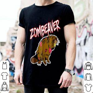 Awesome Zombie Animal Zombeaver Wild Life Halloween Tee shirt