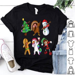Beautiful Christmas Dabbing Santa Friends Dab Xmas shirt