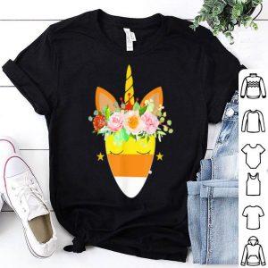 Beautiful Unicorn Candy Corn Halloween Trick Or Treat Party Gift shirt