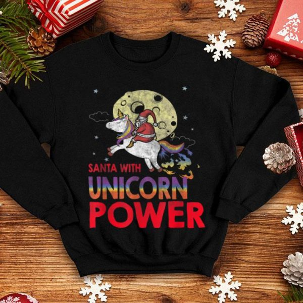 Beautiful Unicorn Power Christmas Santacorn Santa Claus Kids Xmas Gift shirt